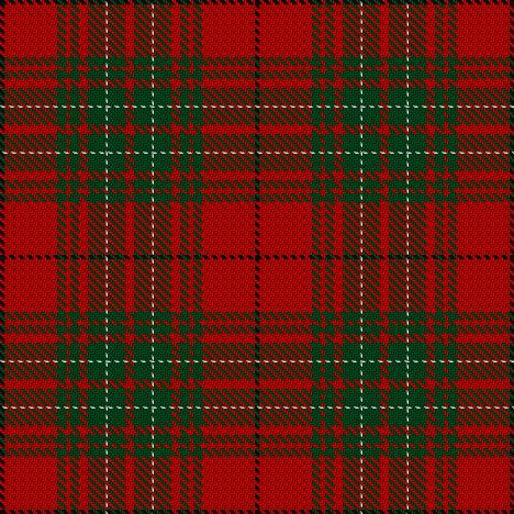 cumming or comyn tartan from Vestiarium Scoticum