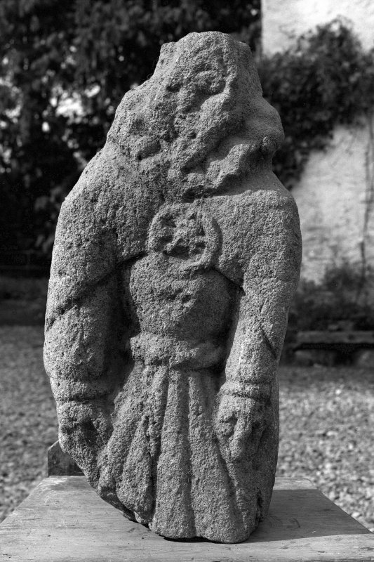 Statuette from Gylen castle, now at Dunollie house