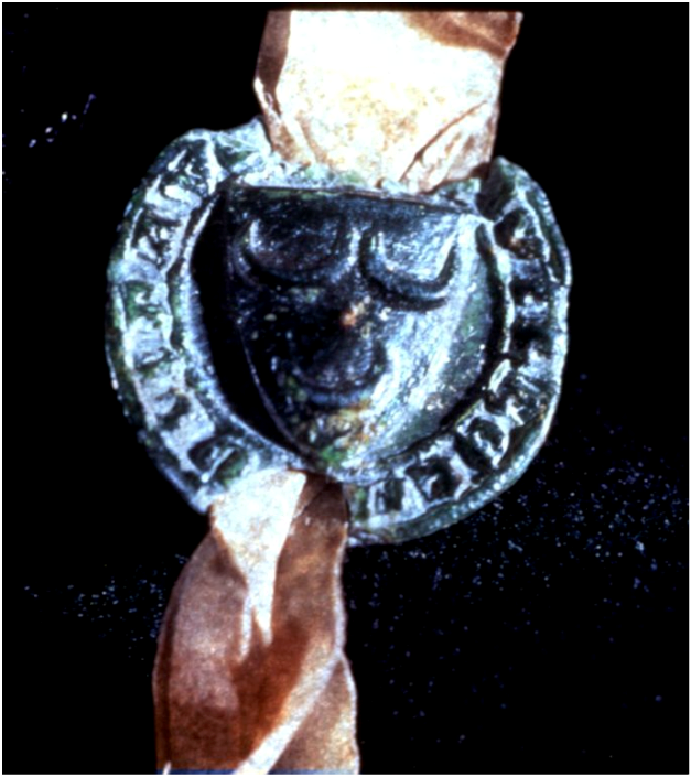 Seal of sir William Oliphant of Aberdalgie to the Declaration of Arbroath (1320)